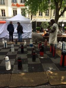 Playing chess at the market place in Berne
