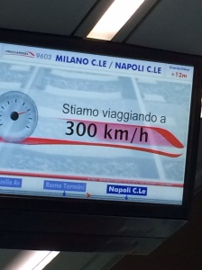 Monitor on train from Rome to Naples
