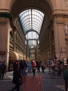 An amazingly beautiful arcade built in the 19th century in Naples.