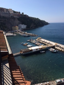 The view from our room at our B&B in Sorrento