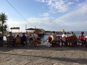 Evening meal at the trattoria  on Marina Grande
