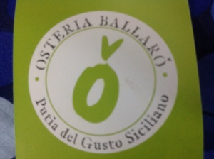 Logo for Osteria Ballaro