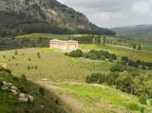 Ruins of Greek temple at Segesta