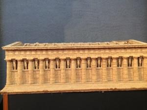 Reconstruction of Temple of Zeus in Museum