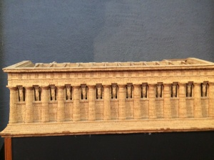Reconstruction of Temple of Zeus in Museum