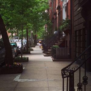 In Greenwich Village we felt as though we were walking through a movie set.