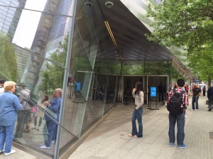 The entrance to the new 9/11 memorial Museum