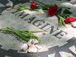 Memorial to John Lennon. Make the most of every day while it is today.