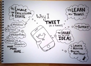 'Why I Tweet as a Teacher' borrowed from a tweet by @danielmccabe #n2t pic.twitter.com/MdcFfG...