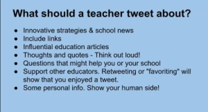 'What should a teacher tweet about?' @carolinemlittle pic.twitter.com/hcT18X6Bm5...